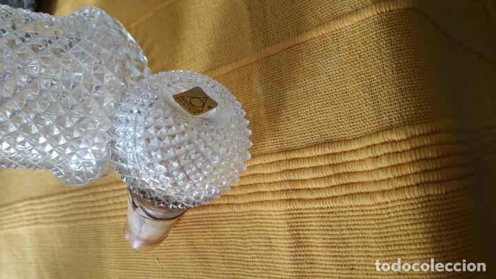 Antigüedades: botella de cristal con tapon de cristal . - Foto 2 - 150482690