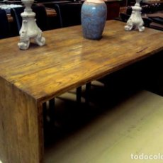Antigüedades: MESA RUSTICA EN MADERA DE OLMO. Lote 150522190