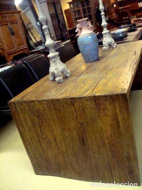 Antigüedades: Mesa rustica en madera de olmo - Foto 2 - 150522190