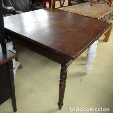 Antigüedades: MESA RUSTICA ANTIGUA EN MADERA DE CASTAÑO . Lote 150527842