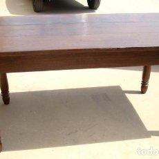 Antiquitäten - Mesa de comedor antigua en madera de castaño pata torneada - 150528282