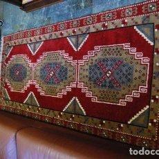 Antigüedades: ALFOMBRA DE LANA DE INSPIRACIÓN ORIENTAL CON MOTIVOS GEOMÉTRICOS. Lote 150531510