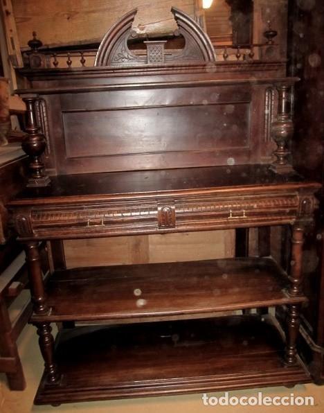 APARADOR PLATERO, ANTIGUO EN MADERA DE ROBLE (Antigüedades - Muebles Antiguos - Aparadores Antiguos)