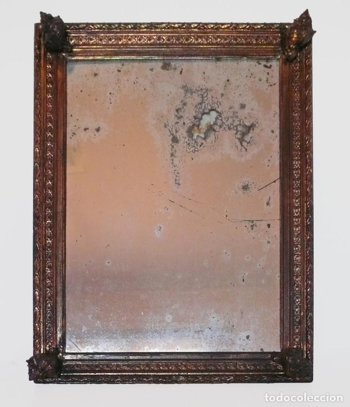 CASSETTA FRAME S.XVIII SPECCHIO VENETIAN MIRROR – ESPEJO VENECIANO MARCO CORNUCOPIA WOOD SEASHELL (Antigüedades - Muebles Antiguos - Espejos Antiguos)
