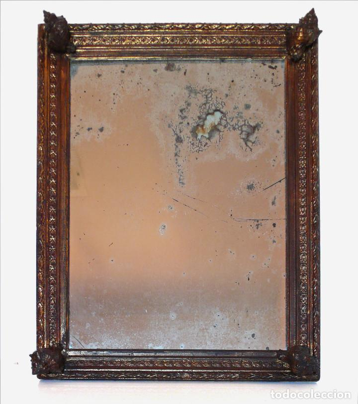 Antigüedades: CASSETTA FRAME S.XVIII SPECCHIO VENETIAN MIRROR – ESPEJO VENECIANO MARCO CORNUCOPIA WOOD SEASHELL - Foto 4 - 150567290