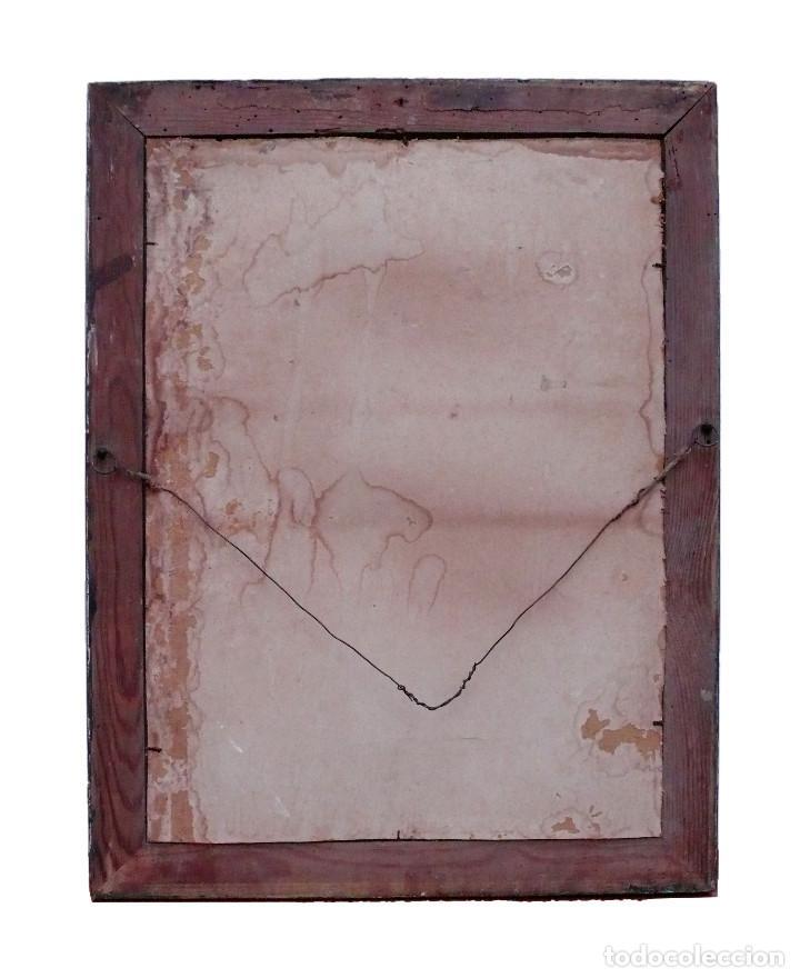 Antigüedades: CASSETTA FRAME S.XVIII SPECCHIO VENETIAN MIRROR – ESPEJO VENECIANO MARCO CORNUCOPIA WOOD SEASHELL - Foto 9 - 150567290