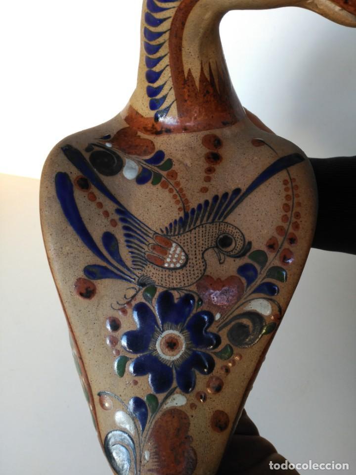 Antigüedades: Pato de gres esmaltado al fuego, pintado a mano, firmado Mexico - Foto 2 - 150570498