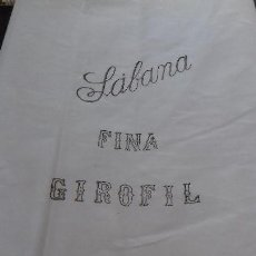 Antigüedades: ANTIGUO CORTE DE TELA. SABANA FINA GIROFIL.. Lote 150579798