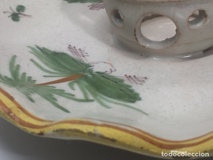 Antigüedades: Mancerinas ribesalbes siglo XVIII - Foto 3 - 150586750