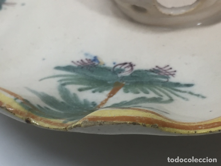 Antigüedades: Mancerinas ribesalbes siglo XVIII - Foto 16 - 150586750