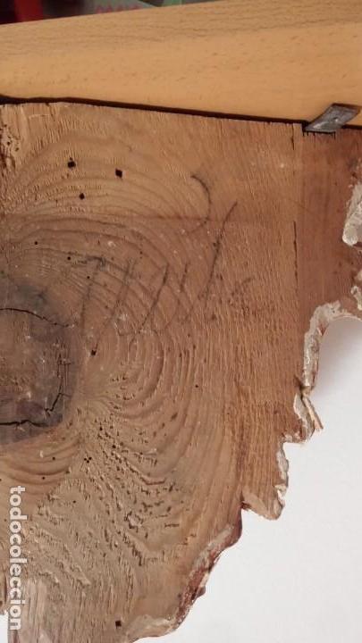 Antigüedades: Gran Ménsula de madera tallada y estofada, dorada, con oro bruñido. 19x35x40,5 cm - Foto 6 - 150595906