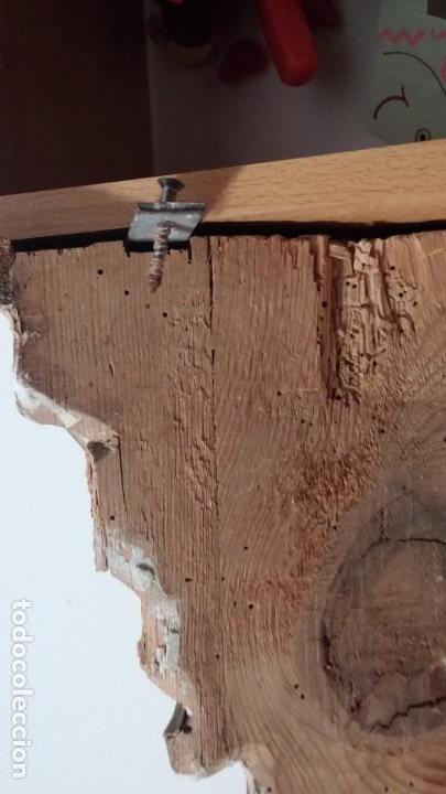 Antigüedades: Gran Ménsula de madera tallada y estofada, dorada, con oro bruñido. 19x35x40,5 cm - Foto 10 - 150595906