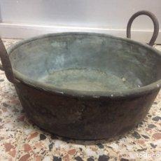 Antigüedades: ANTIGUO CALDERO DE COBRE 30X21CM PESO:5 KILOS. Lote 150605632