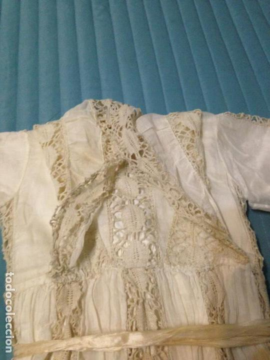 Antigüedades: Vestido niña 1900/1905 puntilla con otro vestido interior de tela VER FOTOS - Foto 7 - 150448822