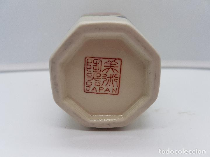 Antigüedades: Bonito jarrón antiguo japonés en porcelana craquelada satsuma con pavo real y flores. - Foto 6 - 150610482