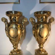 Antigüedades: 2 JARRONES PORCELANA-FRANCIA-VIEJO PARIS-48 CM (SEVRES). Lote 150666574