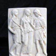 Antigüedades: BONITA FIGURA PISAPAPELES DE MARMOLINA.. Lote 150677422