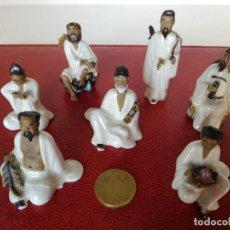 Antigüedades: LOTE DE FIGURAS EN MINIATURA DE PORCELANA CHINA OPACA, GRAN DETALLE. Lote 150678138