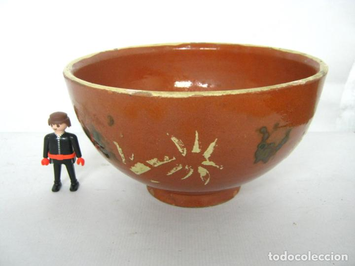 ANTIGUO CUENCO TAZON GRANDES DIMENSIONES - CERAMICA CATALANA (Antigüedades - Porcelanas y Cerámicas - La Bisbal)