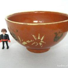 Antigüedades: ANTIGUO CUENCO TAZON GRANDES DIMENSIONES - CERAMICA CATALANA. Lote 150689058