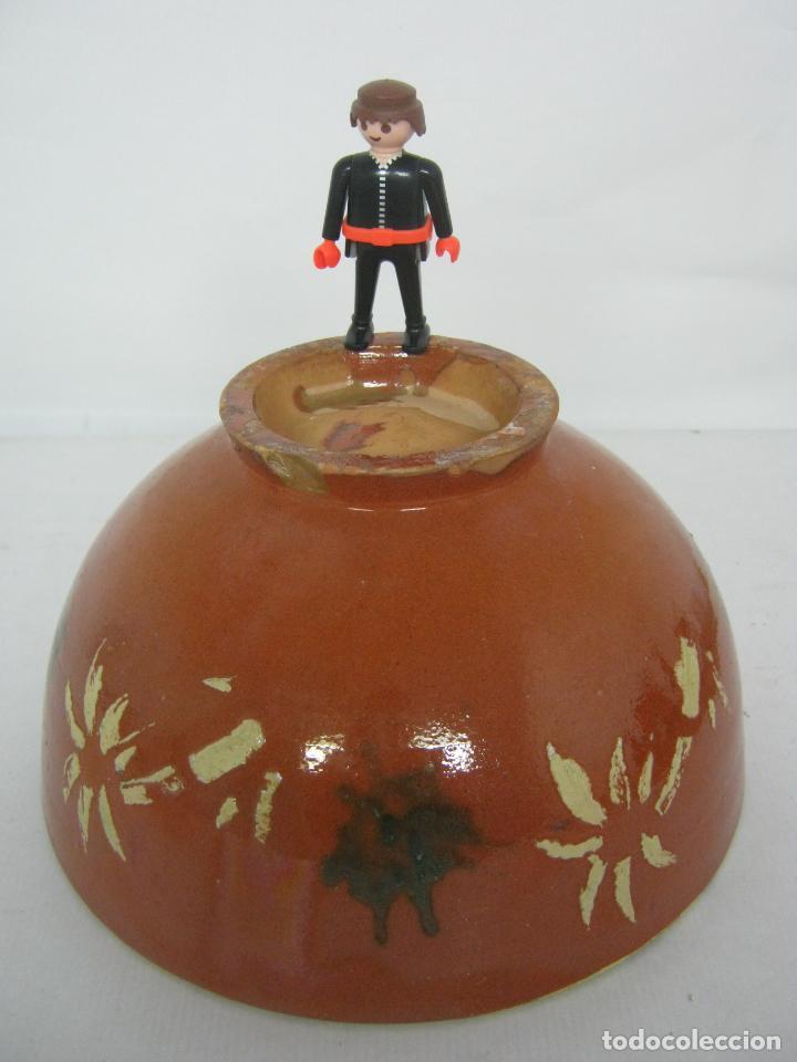 Antigüedades: Antiguo cuenco tazon grandes dimensiones - ceramica catalana - Foto 3 - 150689058