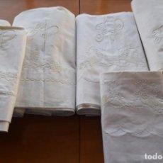 Antigüedades: SEIS PIEZAS DE ALGODÓN SIN USO . Lote 150692394