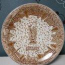 Antigüedades: PLATO LLANO DE LA CARTUJA PICKMAN TEMÁTICA BURGOS. Lote 150693202