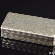 Antigüedades: CAJA DE PLATA DE LEY. Lote 150707476