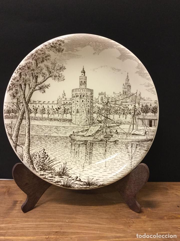 PLATO CERÁMICA LA CARTUJA TORRE DEL ORO N.29 (Antigüedades - Porcelanas y Cerámicas - La Cartuja Pickman)