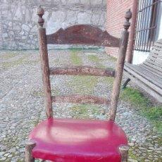 Antigüedades: SILLA CASTELLANA SIGLO 19 PARA RESTAURAR. Lote 150730534