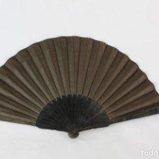 Antigüedades: ABANICO DE LUTO PPS S XX MADERA EBONIZADA 27 CM . Lote 150738174