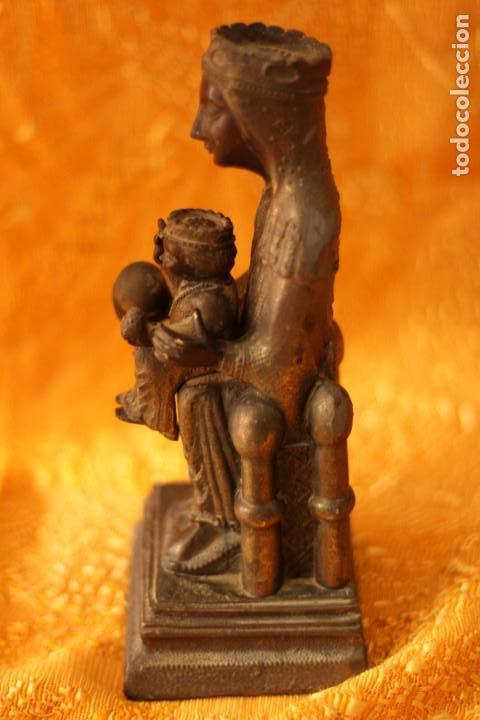 Antigüedades: FIGURA VIRGEN DE MONTSERRAT MORENETA Cataluña 22 cm MONSERRAT - Foto 2 - 213877580