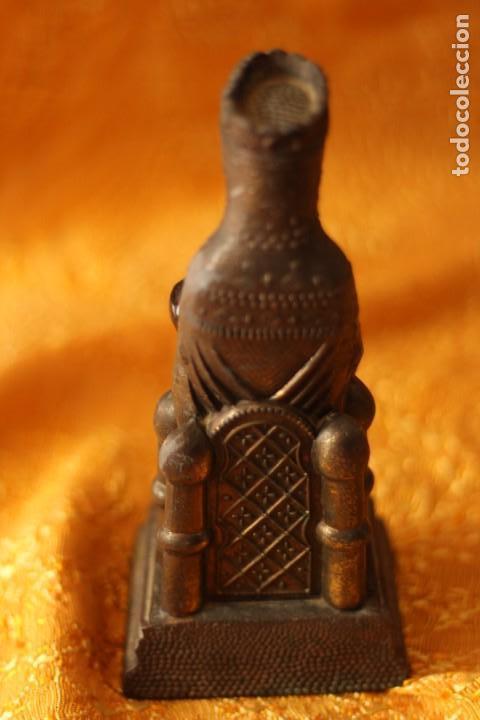 Antigüedades: FIGURA VIRGEN DE MONTSERRAT MORENETA Cataluña 22 cm MONSERRAT - Foto 3 - 213877580