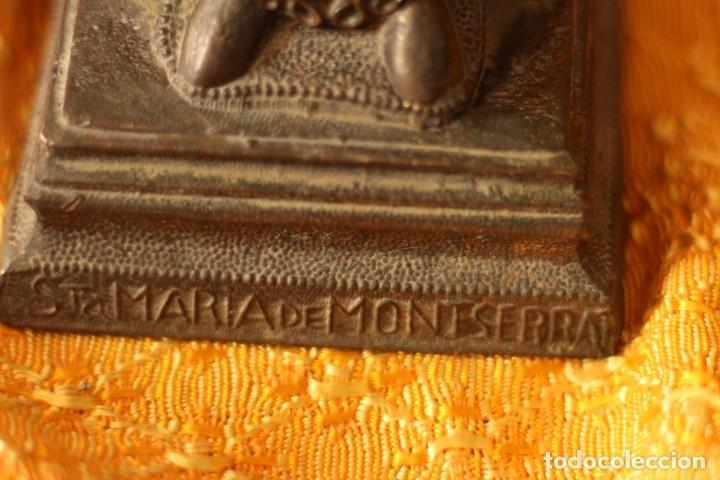 Antigüedades: FIGURA VIRGEN DE MONTSERRAT MORENETA Cataluña 22 cm MONSERRAT - Foto 5 - 213877580