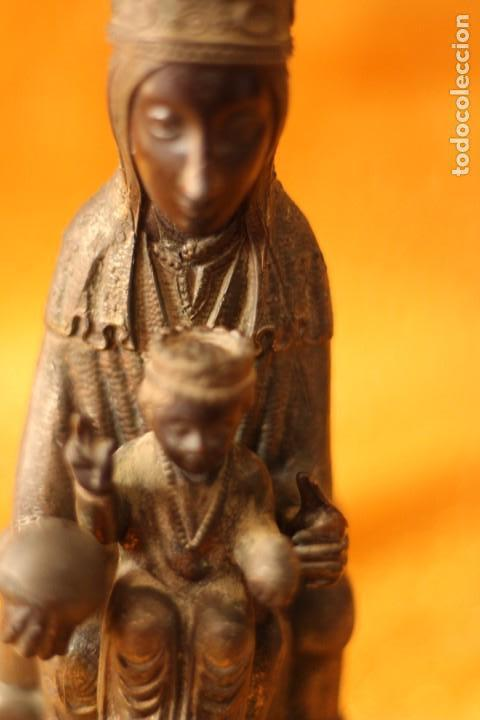 Antigüedades: FIGURA VIRGEN DE MONTSERRAT MORENETA Cataluña 22 cm MONSERRAT - Foto 6 - 213877580