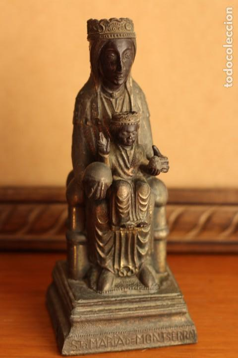Antigüedades: FIGURA VIRGEN DE MONTSERRAT MORENETA Cataluña 22 cm MONSERRAT - Foto 8 - 213877580