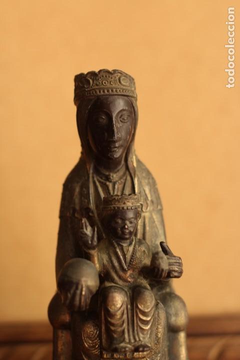 Antigüedades: FIGURA VIRGEN DE MONTSERRAT MORENETA Cataluña 22 cm MONSERRAT - Foto 9 - 213877580