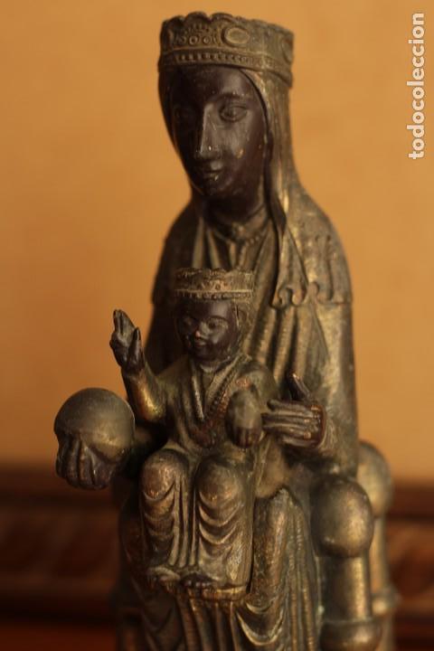 Antigüedades: FIGURA VIRGEN DE MONTSERRAT MORENETA Cataluña 22 cm MONSERRAT - Foto 11 - 213877580