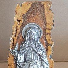 Antigüedades: RECUERDO MONASTERIO DEL DESIERTO DE LAS PALMAS / CASTELLÓN / SOBRE TRONCO / 16 CM ALTO.. Lote 150745462