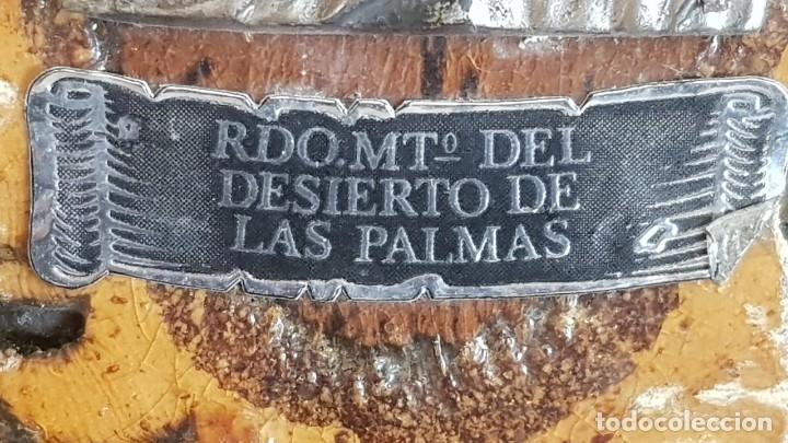 Antigüedades: RECUERDO MONASTERIO DEL DESIERTO DE LAS PALMAS / CASTELLÓN / SOBRE TRONCO / 16 CM ALTO. - Foto 3 - 150745462