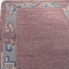 Antigüedades: ALFOMBRA DE LANA COLOR MALVA. Lote 150751202