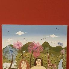 Antigüedades: CUADRO ANTIGUO DEL PINTOR RECONOCIDO DEL VADO,ADAN Y EVA EN EL PARAISO. Lote 150761798