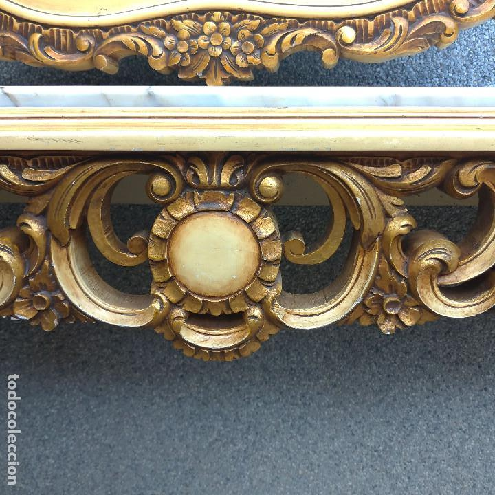 Antigüedades: Consola y espejo estilo barroco Luis XV - Foto 5 - 150766738