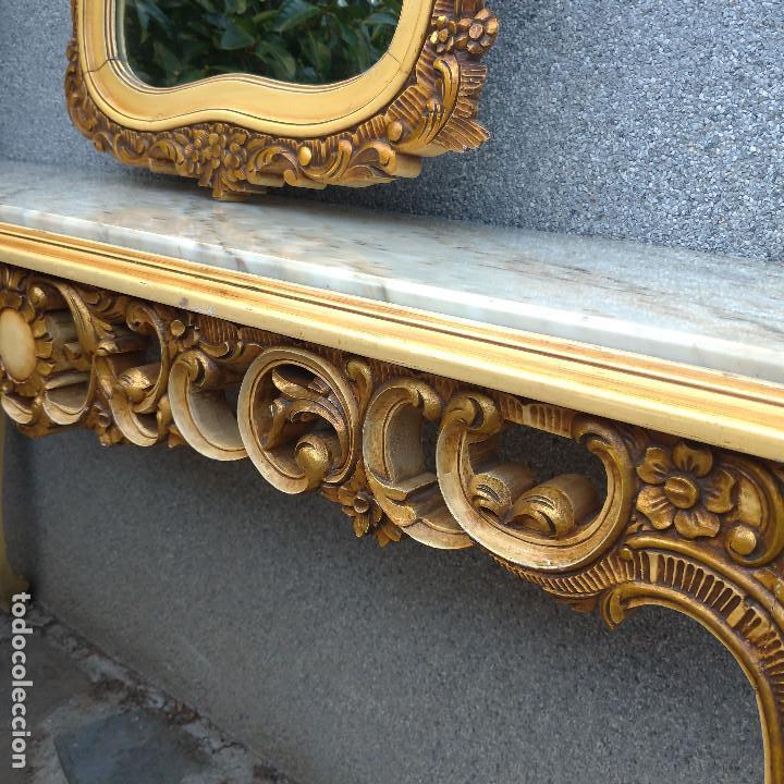 Antigüedades: Consola y espejo estilo barroco Luis XV - Foto 10 - 150766738