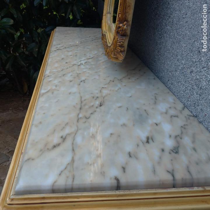 Antigüedades: Consola y espejo estilo barroco Luis XV - Foto 6 - 150766738