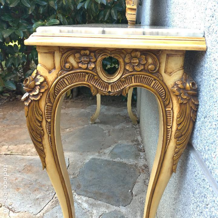 Antigüedades: Consola y espejo estilo barroco Luis XV - Foto 12 - 150766738