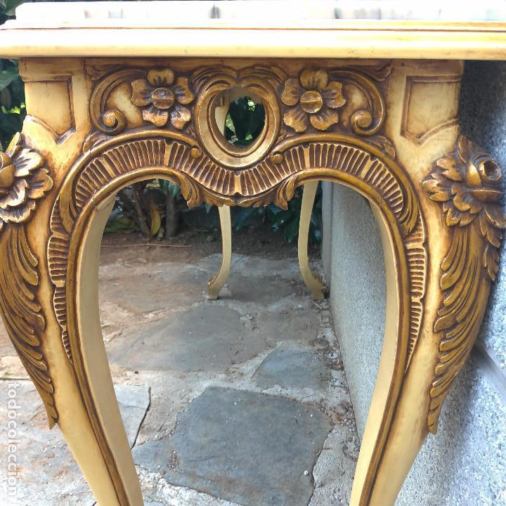 Antigüedades: Consola y espejo estilo barroco Luis XV - Foto 13 - 150766738