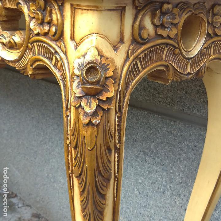 Antigüedades: Consola y espejo estilo barroco Luis XV - Foto 14 - 150766738
