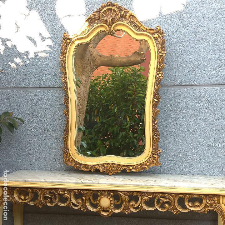 Antigüedades: Consola y espejo estilo barroco Luis XV - Foto 3 - 150766738
