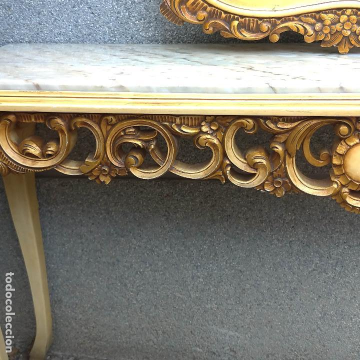 Antigüedades: Consola y espejo estilo barroco Luis XV - Foto 21 - 150766738
